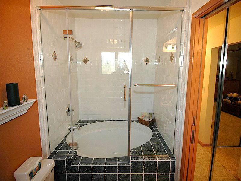 Semi Frameless Shower Enclosures 1/4″ semi-frameless shower doors | martin shower door