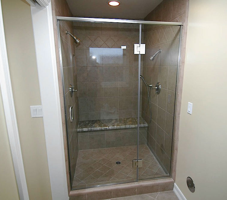 "3/8″ & ½"" FRAMELESS SHOWER DOORS 