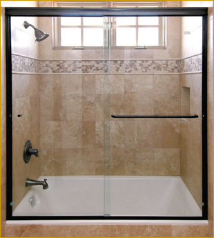 Model #182 Twin Roll Shower Door / Tub Enclosure Update your shower with this 3/8th tempered glass shower door slider. Our self leveling roller brackets ... & SHOWER DOOR SLIDING ENCLOSURES | Martin Shower Door Pezcame.Com