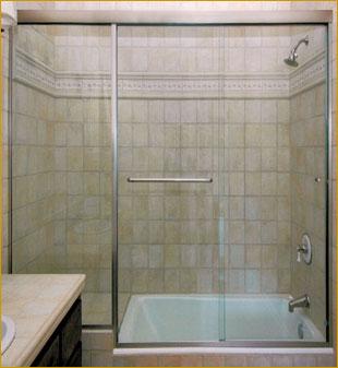 Shower door sliding enclosures martin shower door for 3 panel tub shower doors