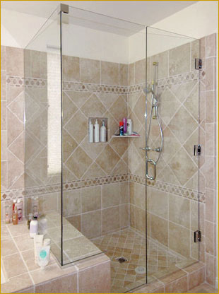 Add A Touch Of Luxury To Your Bathroom With This Enclosure Using 3 8 Tempered Gl The Panels Are Held In Place Aluminum